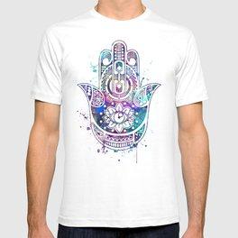 Hamsa Hand Colorful Watercolor T-shirt