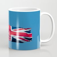 british flag Mugs featuring Flying the British flag by PICSL8