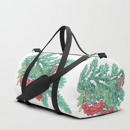 Pine Needles and Berries Duffle Bag