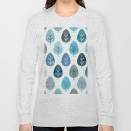 Watercolor Forest Pattern #2 Long Sleeve T-shirt