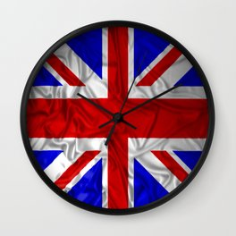 Wrinkled Union Jack Flag Wall Clock