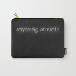 Anything on Earth (Black and White) Carry-All Pouch