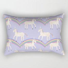 Unicorn Pattern on Pastel Purple Rectangular Pillow