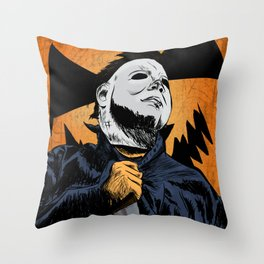 Halloween Slasher Throw Pillow