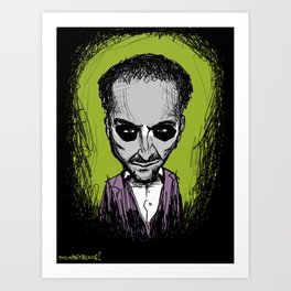 Derren Brown will steal your soul and eat it (probably) Art Print