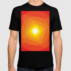 Gradient Sun Mens Fitted Tee Black MEDIUM