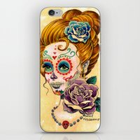fitzgerald iPhone & iPod Skins featuring Dia de los Muertos Roses by Cathy FitzGerald