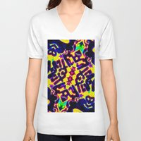 cracked V-neck T-shirts featuring cracked meiosis by stoneRage