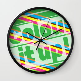Colour it up! Wall Clock