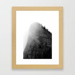 The Fog Swirls Framed Art Print