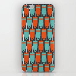 Buoys, Orange & Blue iPhone Skin