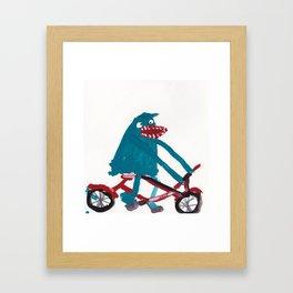 Tony Horseradish: Bike Framed Art Print