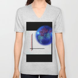Abstract in perfection - Fertile Imagination Rose 3 Unisex V-Neck