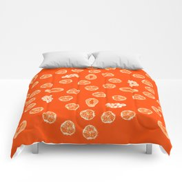 Kiwano, Papaya & Gooseberry [Orange] • Mandala Comforters