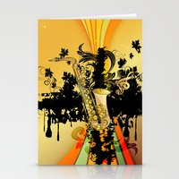 saxophone Stationery Cards featuring Saxophone by nicky2342
