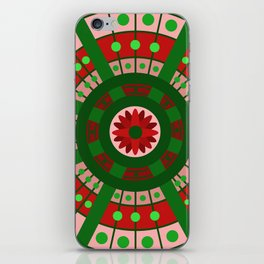 Complimentary & Symmetry - Red and Green iPhone Skin