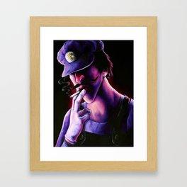 Waluigi Framed Art Print