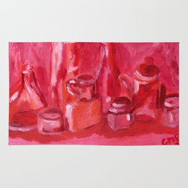 Still Life Study in Pink Rug