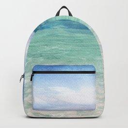 Watercolor Sea Landscape Backpack