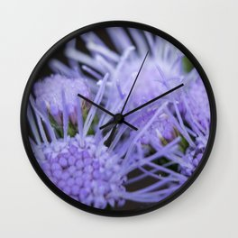 Blue mist blooms Wall Clock
