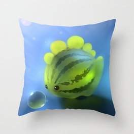 Watermelon Dino Throw Pillow