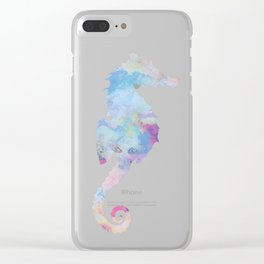 AFE Watercolor Seahorse Clear iPhone Case