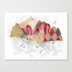 montañas Canvas Print