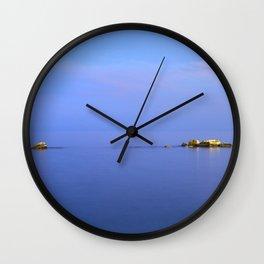 San Cristobal Reefs. Blue hour Wall Clock