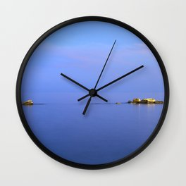 San Cristobal Reefs. Blue hour Wall Clock