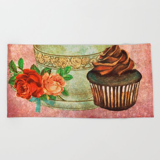 Sweets Vintage Poster 03 Beach Towel