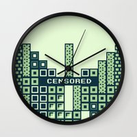 tetris Wall Clocks featuring tantric tetris. by dann matthews