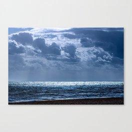 Beach Ocean Clouds Canvas Print