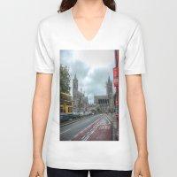 dublin V-neck T-shirts featuring Dublin by Christine Workman