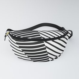 Abstract Striped Triangles Fanny Pack