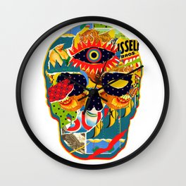 Three Eyed Skull Wall Clock