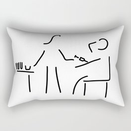 assistant of doctor Rectangular Pillow