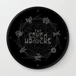 The Seven Wonders Wall Clock