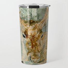 Reindeer In The Forest Travel Mug