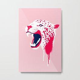 Jaguar Head Metal Print
