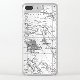 Vintage Map of San Francisco California (1905) Clear iPhone Case