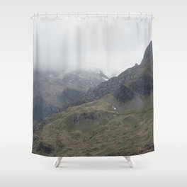 There be Mountains Shower Curtain