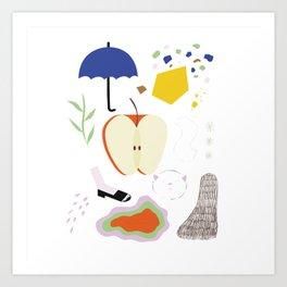 Fruit & Shapes Art Print