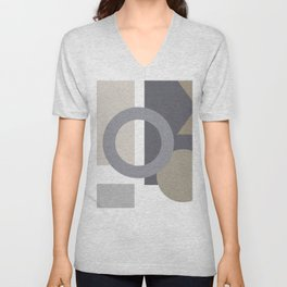 Abstract Shape Art Unisex V-Neck
