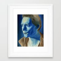 tom hiddleston Framed Art Prints featuring Tom Hiddleston by thinkpassion