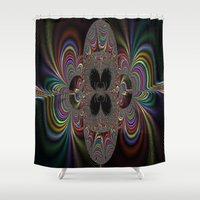 elegant Shower Curtains featuring ELEGANT  by Jupiter Bencze Julianna Queen
