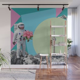 The astronaut and the tower Wall Mural