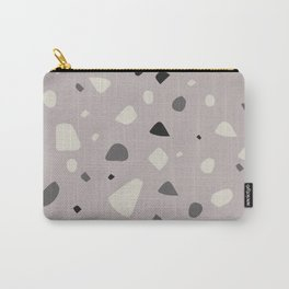 Gray Terrazzo Carry-All Pouch