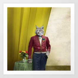 Portrait of Sir Linus Lynx Art Print