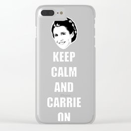 Keep Calm and Carrie On T-Shirt Clear iPhone Case