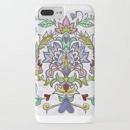 Petalwink Whimsical Suzani Vibrant Pattern iPhone Case